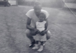 1961:  Gonsenheim, Germany Hubby and Eldest Daughter